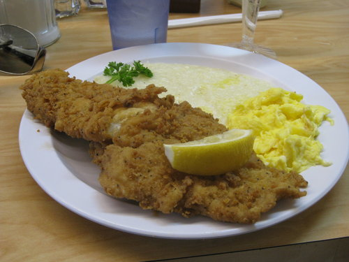 Catfish Eggs & Grits