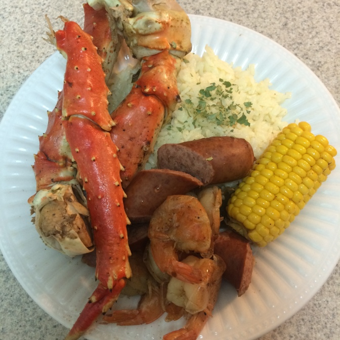 [RECIPE] Healthy Shebang Crab Pot w/ Shrimp, Sausage, Corn and Steamed Rice